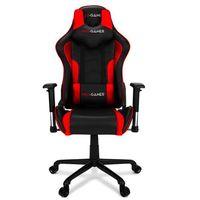 Fotele dla graczy, Fotel gamingowy MAVERIC czerwony PRO-GAMER dla graczy Wyprzedaż! PODKŁADKA PRO-GAMER 80x45cm GRATIS