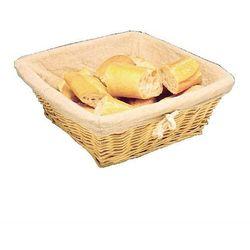 Koszyk na chleb prostokątny z materiałem | 315x230x(H)95mm