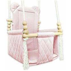 Różowa kubełkowa huśtawka miś dla dziewczynki - Brisa