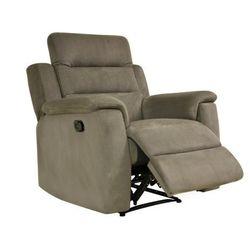 Fotel typu relaks SIMONO z mikrofibry — taupe