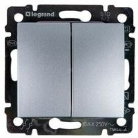 Włączniki, Łącznik schodowy Legrand Valena 770108 aluminium