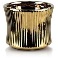 Doniczki i podstawki, YVONNE GOLD Doniczka 13x13xh11cm