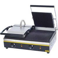 Grille gastronomiczne, Kontakt grill podwójny, ryflowany, 3,6 kW, 525x325x200 mm | GREDIL, 742020
