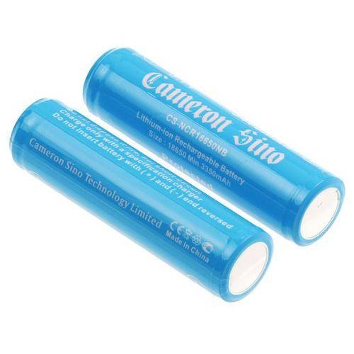 Akumulatorki, 2x akumulator 18650 3400mAh 12.58Wh Li-Ion 3.7V z zabezpieczeniem PCM ogniwo Panasonic NCR18650B (Cameron Sino)