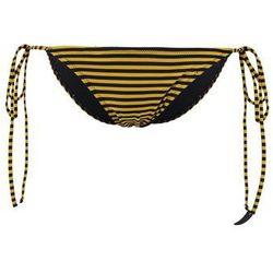Les Girls Les Boys STRIPE TIE SIDE Dół od bikini gold/black