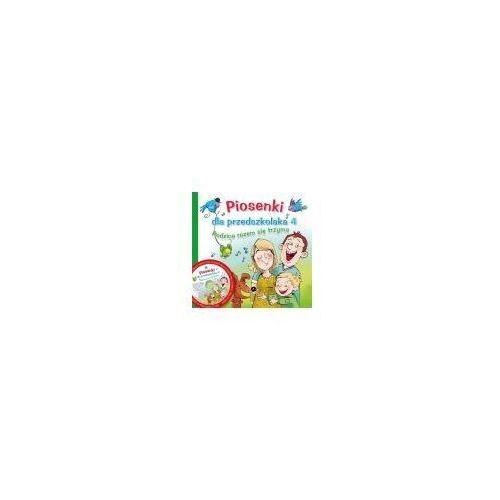 Książki dla dzieci, Piosenki dla przedszkolaka 4 + cd (opr. miękka)