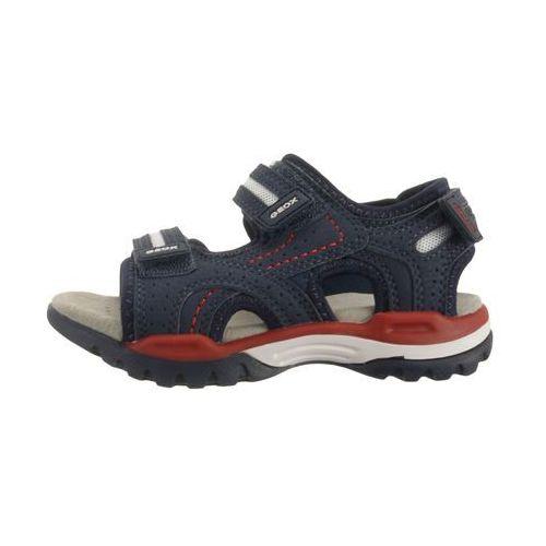 Sandałki dziecięce, GEOX J920RD J BOREALIS BOY 000CE C0735 navy/red, sandały dziecięce, rozmiary:28-34