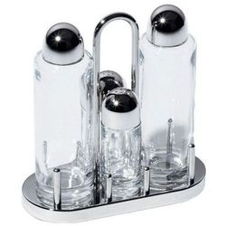 Alessi Zestaw do soli, oliwy i pieprzu ze stali nierdzewnej i kryształu (5070) Darmowy odbiór w 21 miastach!