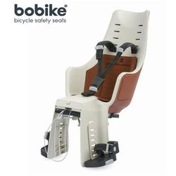 Fotelik rowerowy na tył Bobike Maxi Exclusive - Cinnamon Brown