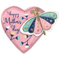 Balon foliowy na dzień matki Motylki - 66 x 60 cm - 1 szt.