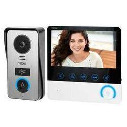 Zestaw wideodomofonowy Orno VDP-60 Virone Ceti bezsłuchawkowy z monitorem LCD7 czytnik kart i breloków czarny