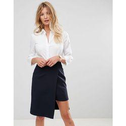 ASOS DESIGN fuller bust 3/4 sleeve shirt in stretch cotton - White