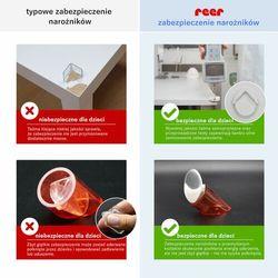 Zabezpieczenie narożników mebli 4szt białe REER