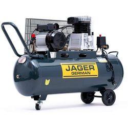 JAGER GERMAN SPRĘŻARKA POWIETRZA TŁOKOWA KOMPRESOR TŁOKOWY OLEJOWY 100L 8BAR 350l/Min 2.2 kW 230V Mocna Rzecz promocja (--21%)