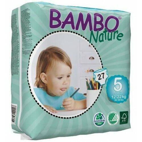 Pieluchy jednorazowe, BAMBO Nature Junior (12-22kg) 27 szt. - pieluszki jednorazowe