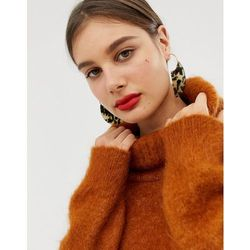 ASOS DESIGN pull through statement earrings with tortoiseshell shape in gold - Gold