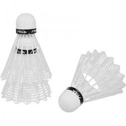 Lotki do badmintona Stiga nylonowe 3 sztuki białe