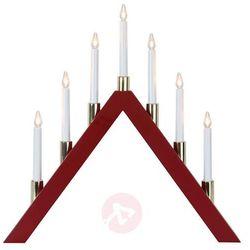 Ponadczasowy piękny świecznik LED Halla, czerwony