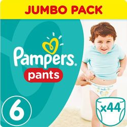 Pampers, Active Baby Pants Jumbo Pack. Pieluchomajtki, rozmiar 6 Extra Large, 44szt - Pampers