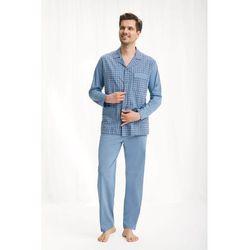 Piżama męska LUNA kod 797 rozpinana niebieski SIZE PLUS
