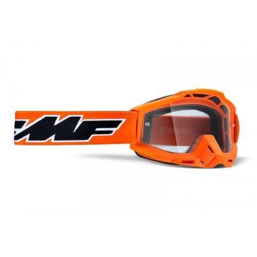 Gogle i okulary motocyklowe, Fmf gogle powerbomb rocket orange szyba clear