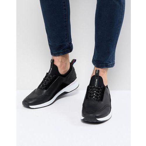 Męskie obuwie sportowe, PS Paul Smith Mookie Leather Trainer In Black - Black