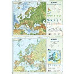 Podkładka na biurko A2 Europa ukształtowanie powierzchni/polityczna dwustronna - książka