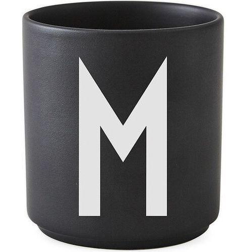 Kubki, Kubek porcelanowy AJ czarny litera M