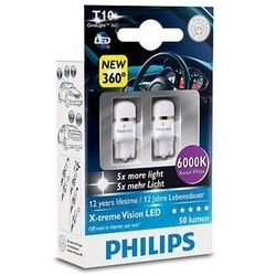 Philips X-Tremevision Led W5W 12V 1W 6000K 2Szt