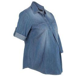 """Bluzka ciążowa z bawełny bonprix niebieski """"medium bleached"""""""