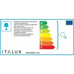 Kinkiet lampa oprawa ścienna Italux Laverno 1x60W E27 czarny mat MB-402621-1-B