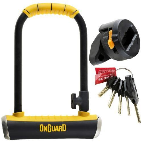 Zabezpieczenia do roweru, Zapięcie rowerowe ONGUARD Brute LS 8000 U-LOCK - 16,8mm 115mm 260mm - 5 x Klucze z kodem ONG-8000 SS16