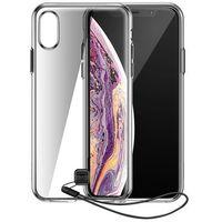 Etui i futerały do telefonów, Baseus Transparent Key usztywnione etui z żelową ramką iPhone XS Max czarny (WIAPIPH65-QA01)