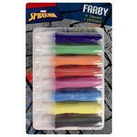 Farbki, Farby w tubach z pędzlami Spiderman 8 kolorów