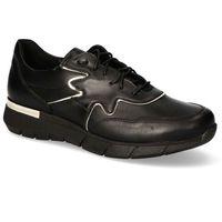 Damskie obuwie sportowe, Sneakersy Karino 3149/076-P Czarne/Złote lico