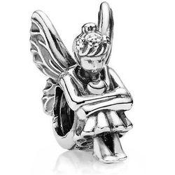 Rodowany srebrny charms pandora anioł aniołek angel serce heart srebro 925 PAS180