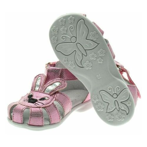 Sandały dziecięce, Sandały dla dzieci Kornecki 06554 Różowe