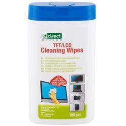 Chusteczki do ekranów D.RECT TFT/LCD op.100