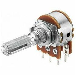 MONACOR VRB-100S500 Potencjometr liniowy stereo, 500kΩ