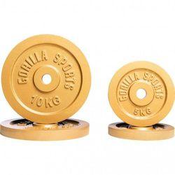 Zestaw obciążeń żeliwnych złoty 30kg