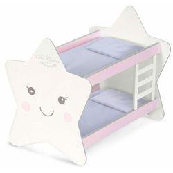 DeCuevas 55329 Drewniane łóżko piętrowe dla lalek z akcesoriami Martin