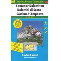 Mapy i atlasy turystyczne, Sesto Dolomity Cortina d'Ampezzo. Mapa 1:50 000 (opr. miękka)