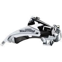 Manetki i przerzutki, AFDTY500TSM6 Przerzutka przednia Shimano Tourney FD-TY500 3x6, 3x7, 3x8 rz. 42T