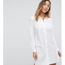 ASOS TALL Cotton Mini Shirt Dress - White
