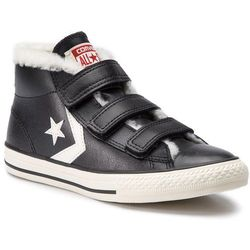 Trampki CONVERSE - Star Player EV 3V Mid 658152C Black/Egret/Terra Red