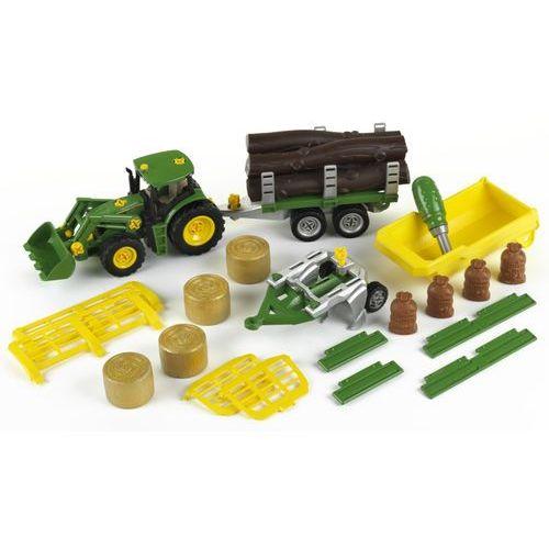 Traktory dla dzieci, Klein Traktor z 3 wywrotkami i pługiem John Deere
