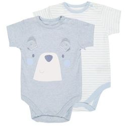 mothercare GRAPHIC AND STRIPE BODYSUIT 2 PACK Body pale blue