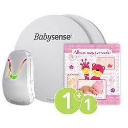 Monitor oddechu dla niemowląt BABYSENSE 7 + Album Twojej córeczki
