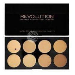 Makeup Revolution Ultra Cover & Conceal Palette (W) paleta 8 kremowych korektorów Medium Dark 10g