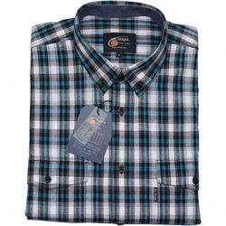 Koszula sportowa Mr.Unique - w niebieskich odcieniach w kratkę
